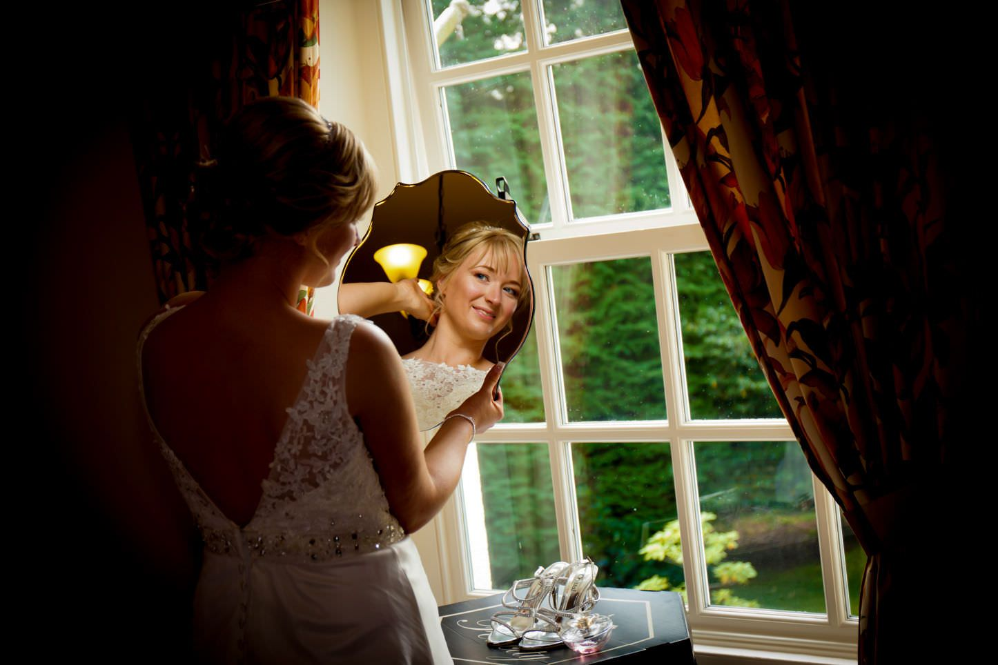 Weddings, beautiful bride by the window, bridal portraits, wedding images
